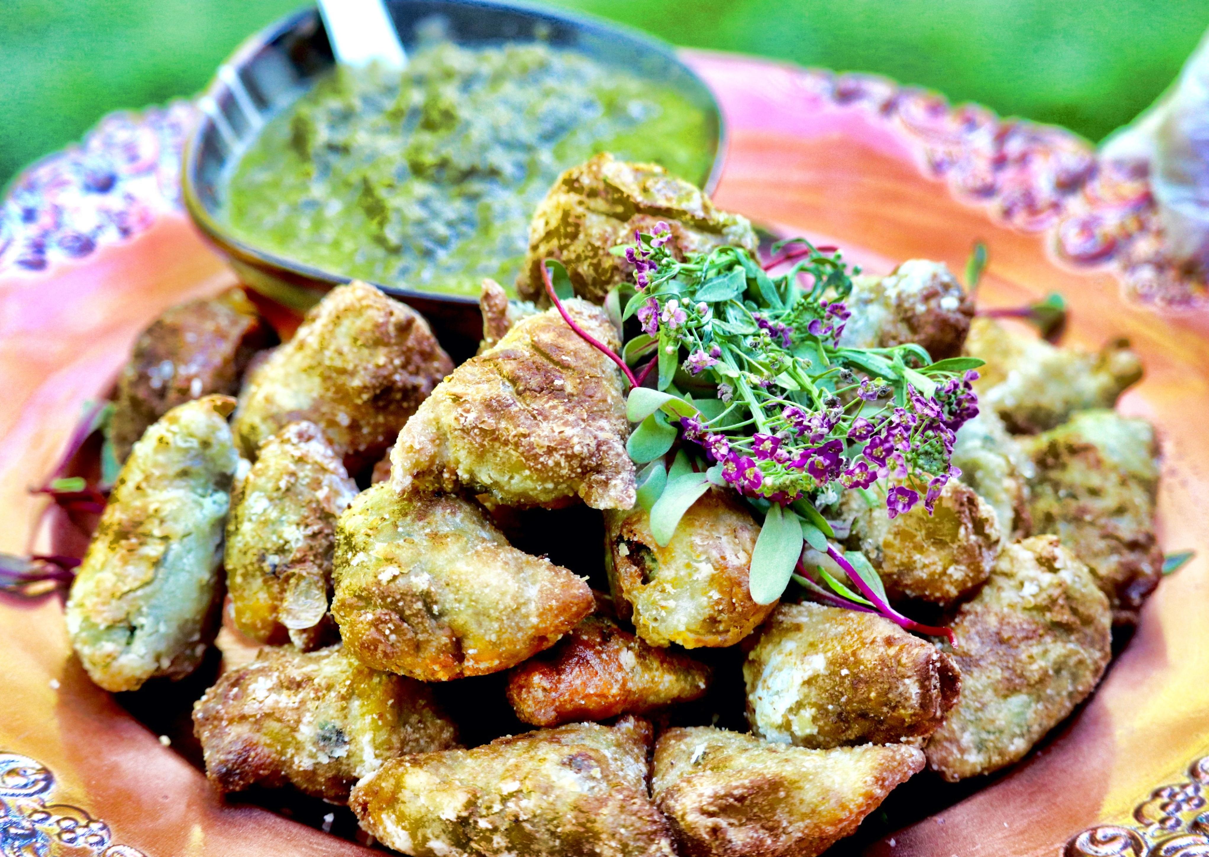Kenyan-inspired beef & potato samosas